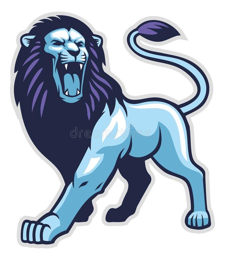 Position de lion illustration de vecteur