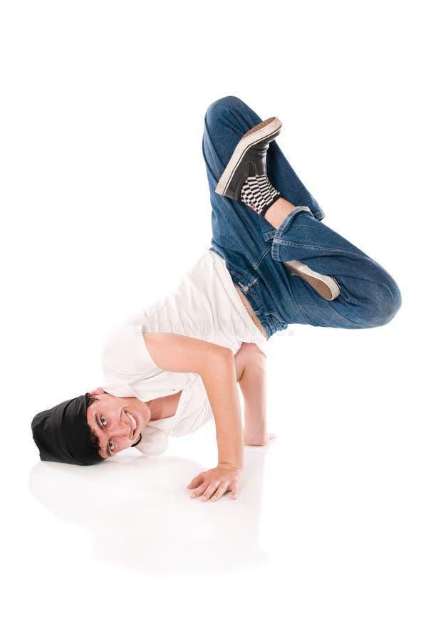 position de lotus de breakdancer photo stock