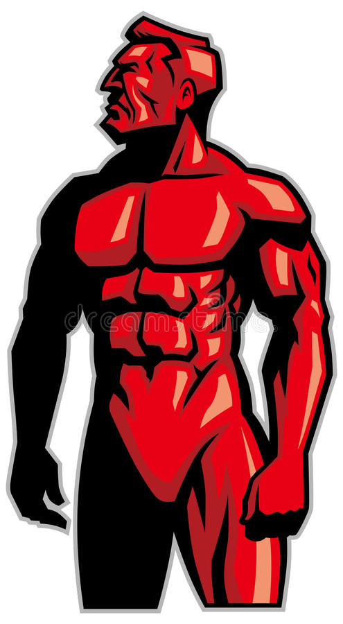 Download Position De Mascotte D'homme De Muscle Illustration de Vecteur - Illustration du gant, impressionnant: 45363285