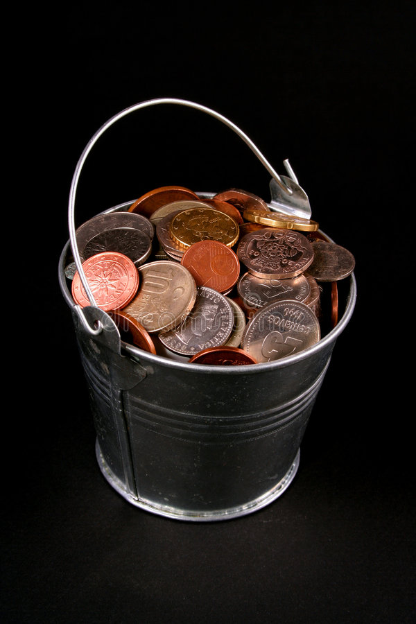 Position de pièces de monnaie images stock