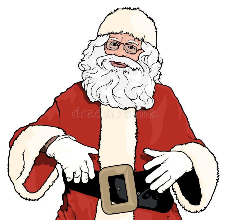Position de Santa Claus illustration de vecteur