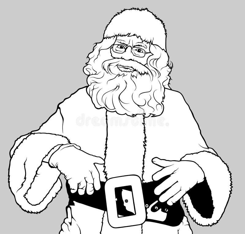 Position de Santa Claus illustration stock