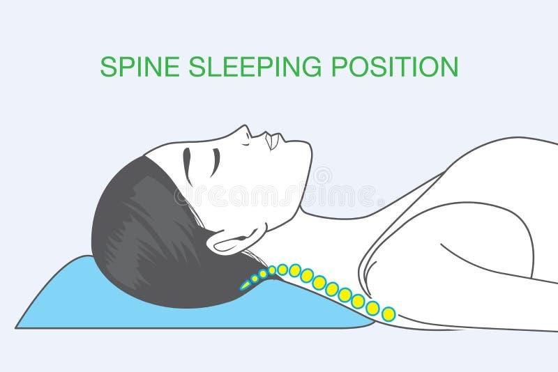 Position de sommeil d'épine illustration de vecteur