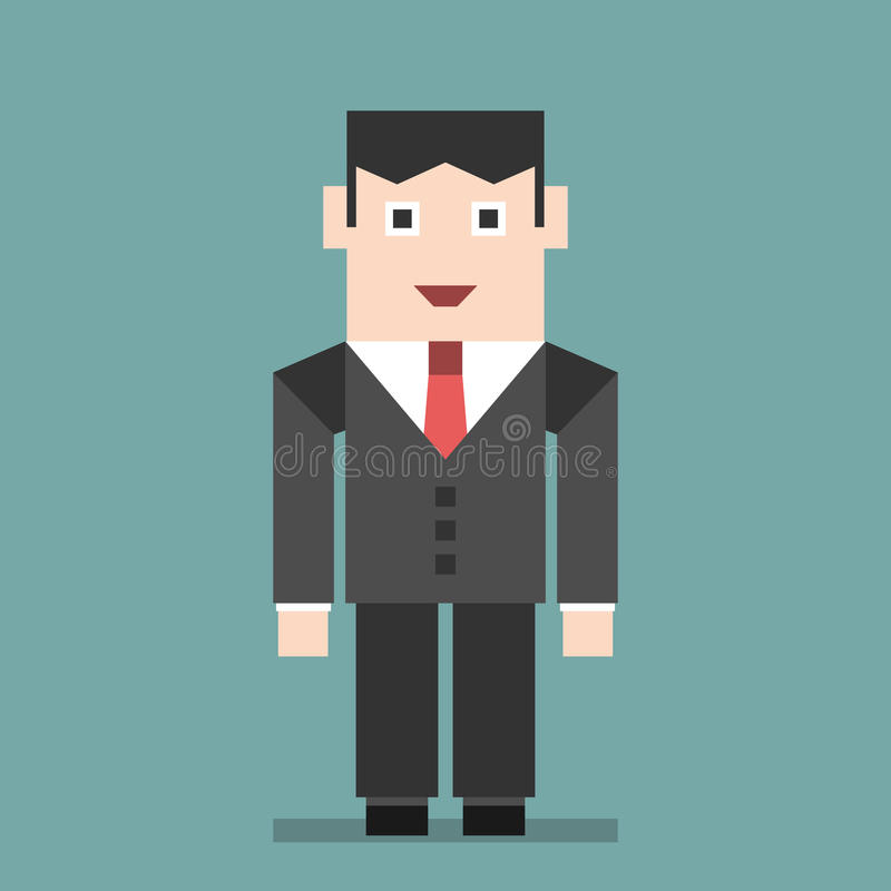 Position de sourire d'homme d'affaires illustration libre de droits