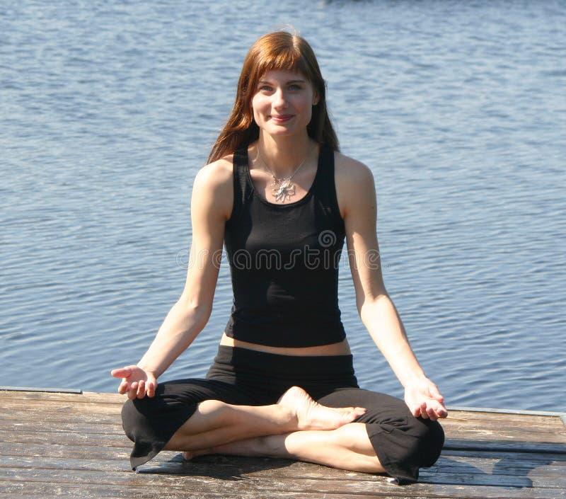 Position De Yoga Photo libre de droits