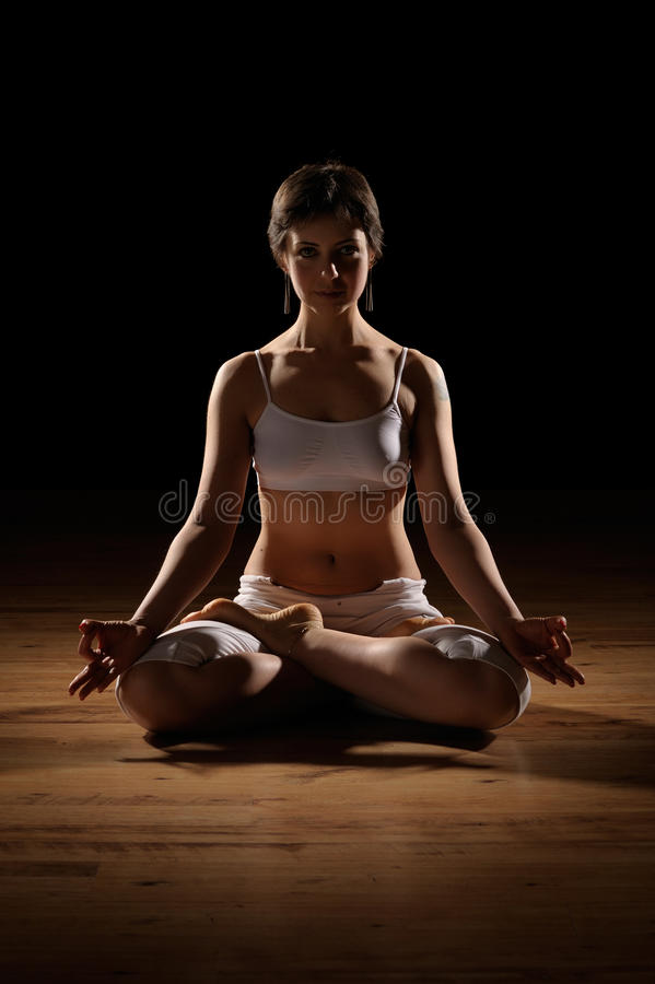 Position de yoga de lotus photographie stock libre de droits