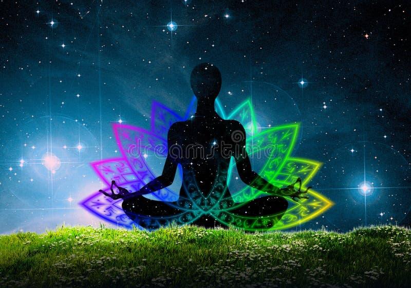 Position de yoga de Lotus images stock