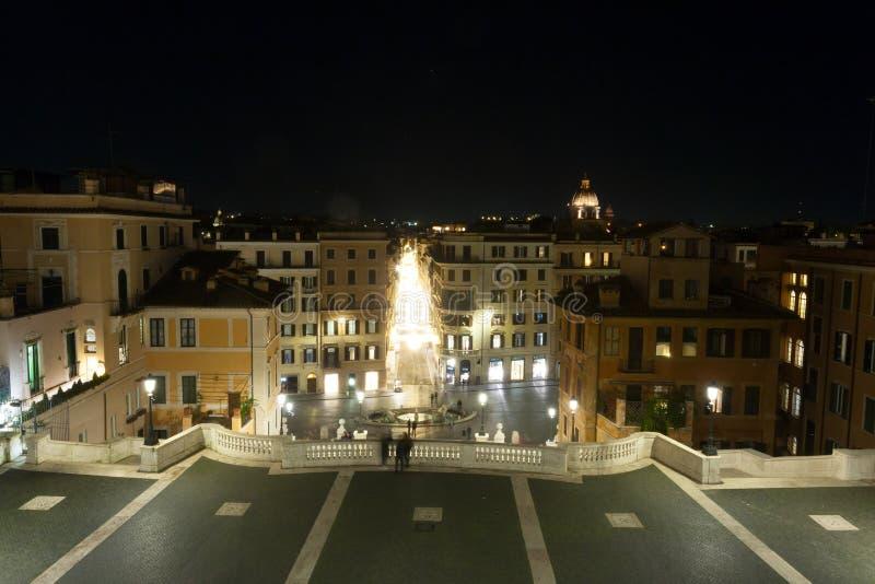 Position espagnole de nuit d'étapes, Rome, Italie photographie stock libre de droits