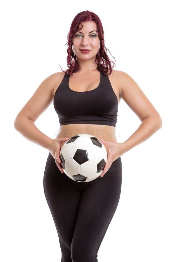 Position et participation femelles sexy une boule photos stock