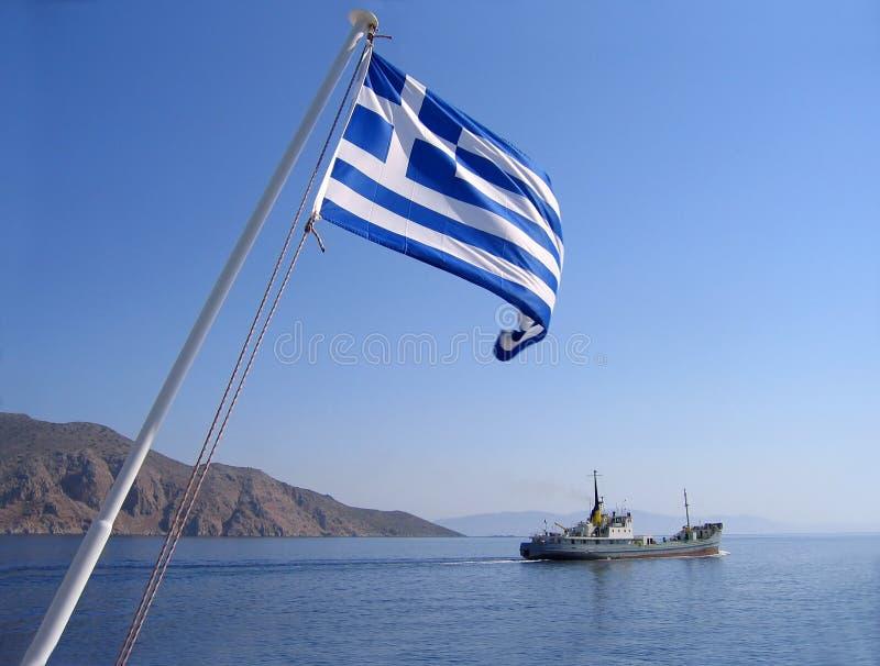 position grecque de mer d'indicateur images stock