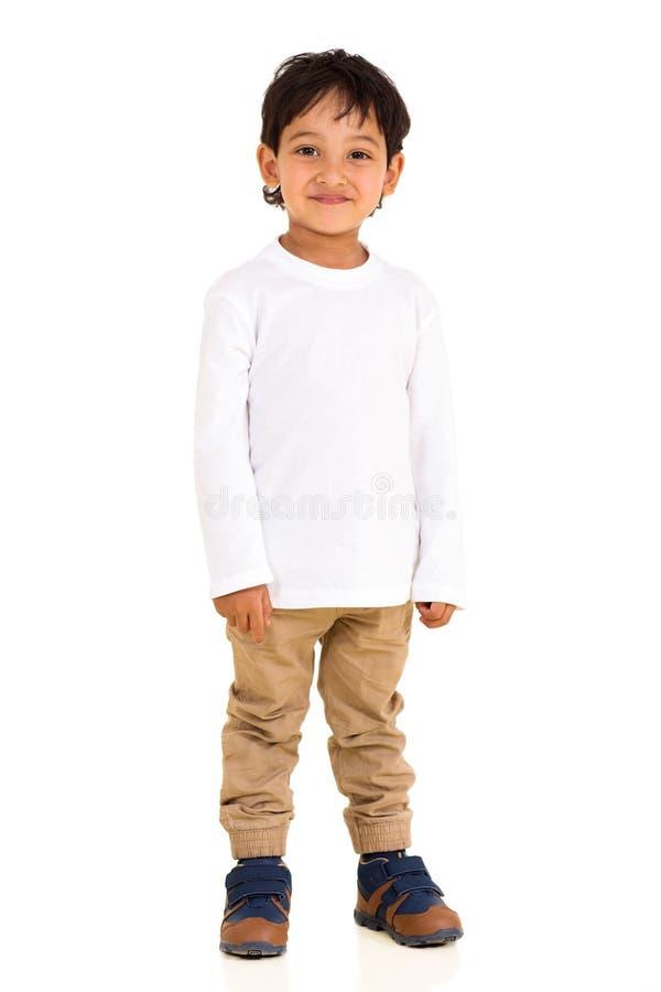 Position indienne de garçon image stock