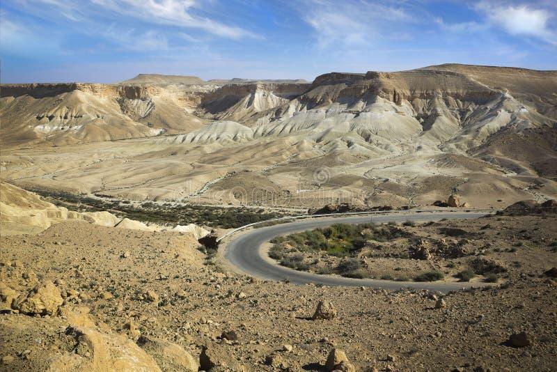 Position israélienne de mountin de paysage de désert images libres de droits