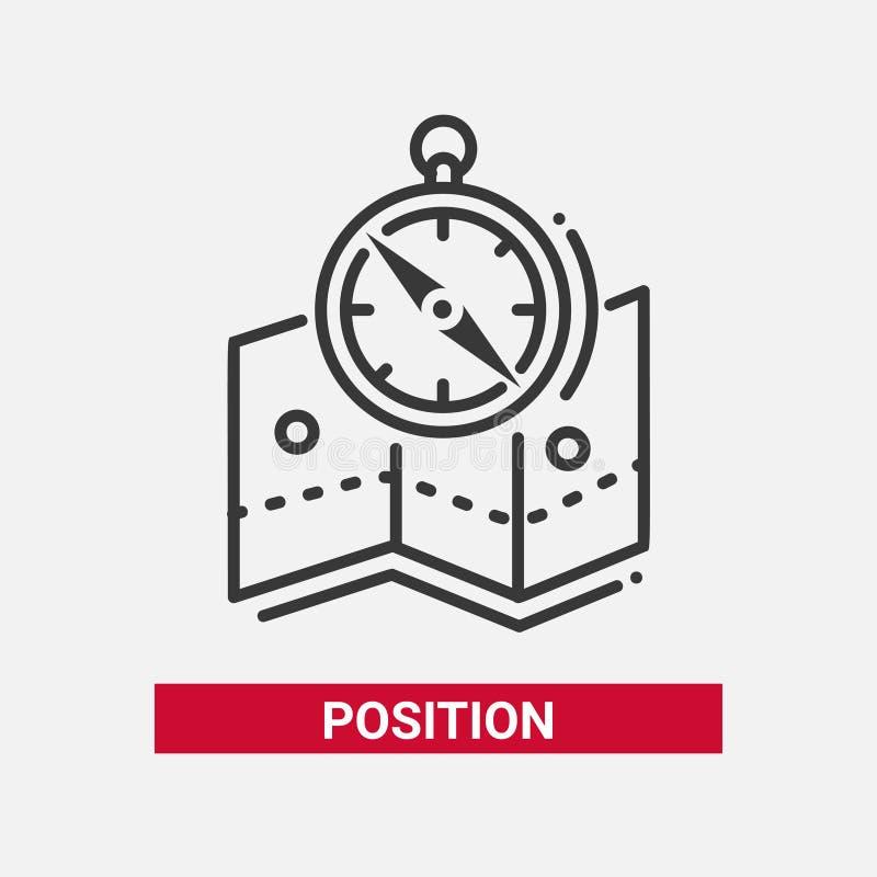Position - linje isolerad symbol för design singel vektor illustrationer