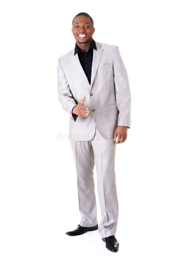 Position masculine belle d'homme d'affaires. image libre de droits