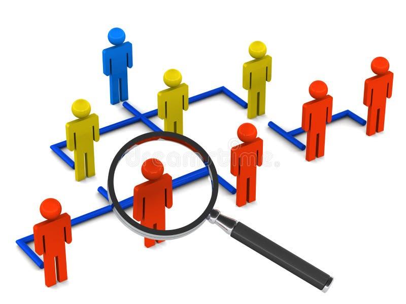 Position ou rôle illustration de vecteur