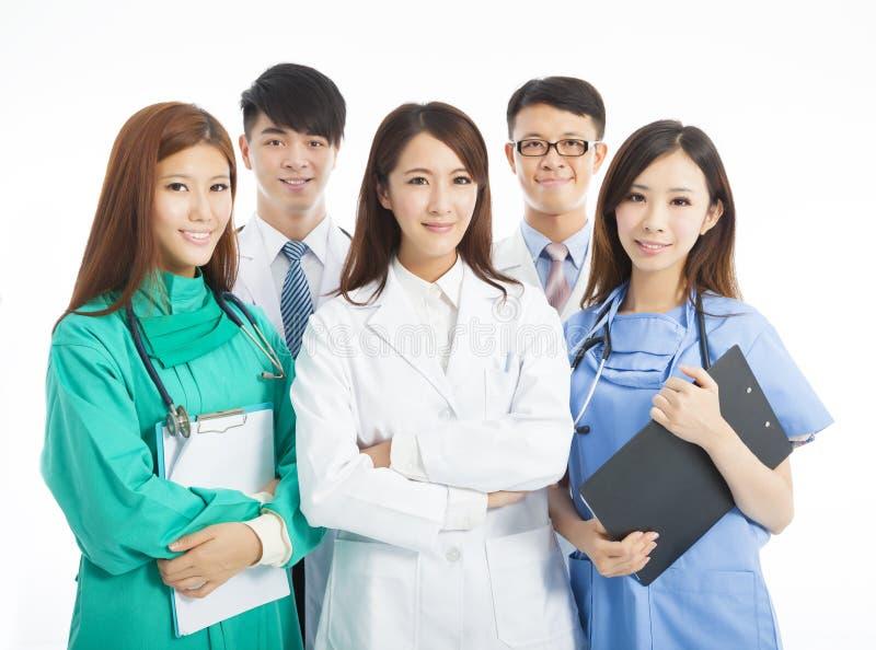 Position professionnelle d'équipe de médecin image libre de droits