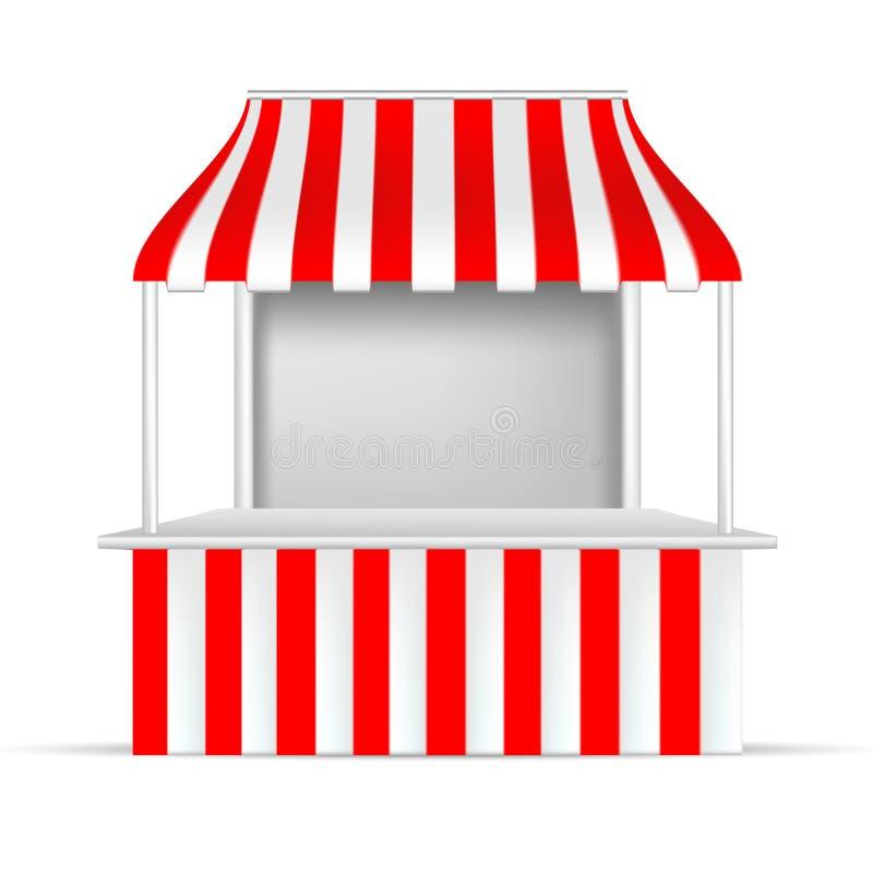 Download Position Rouge Et Blanche Stalle De POI Ou Kiosque Extérieure 3D/d'intérieur Illustration de Vecteur - Illustration du illustration, étagère: 87705655