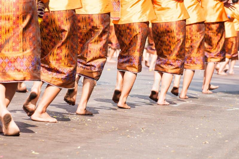 Position thaïlandaise de danse images stock