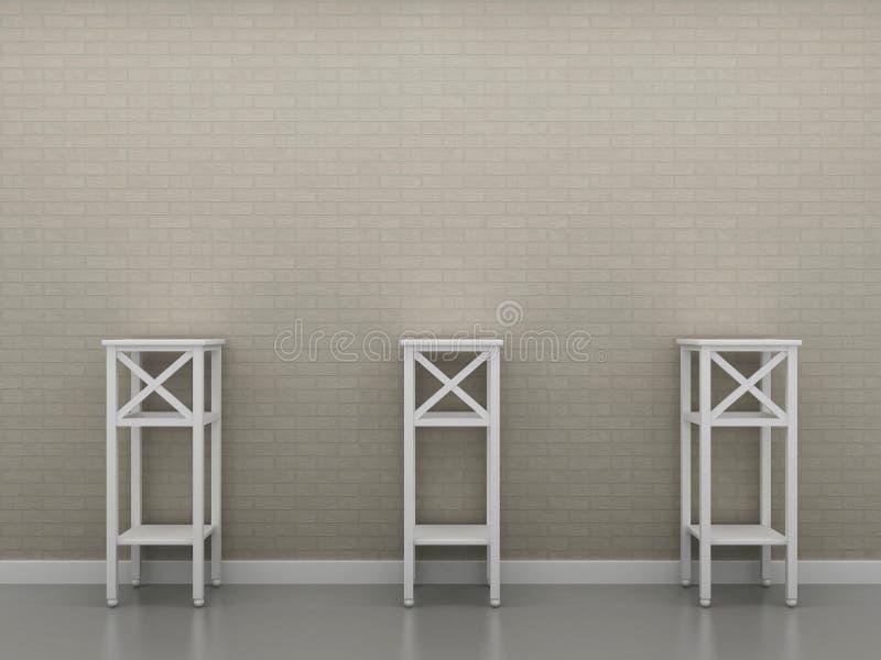 Position trois contre le mur 1 illustration de vecteur