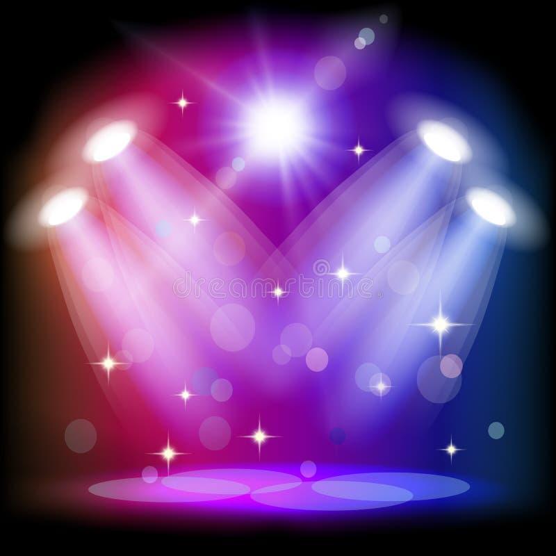 Positionieren Sie Leuchte lizenzfreie abbildung