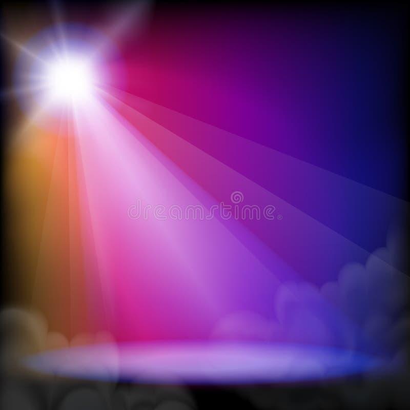 Positionieren Sie Leuchte vektor abbildung