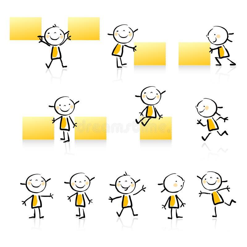 Positionnement éducatif de graphisme illustration de vecteur