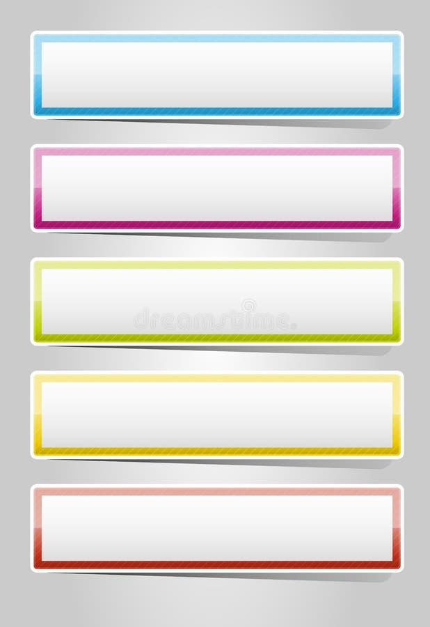 Positionnement élégant lustré de bouton illustration stock