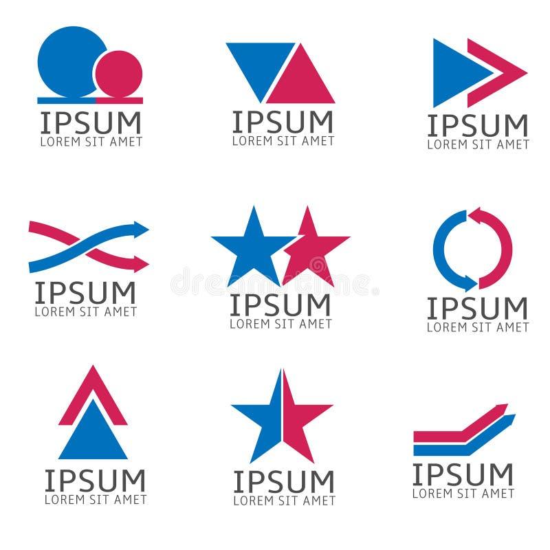 Positionnement abstrait de logo illustration stock