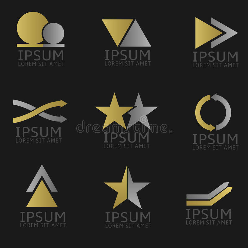 Positionnement abstrait de logo illustration libre de droits