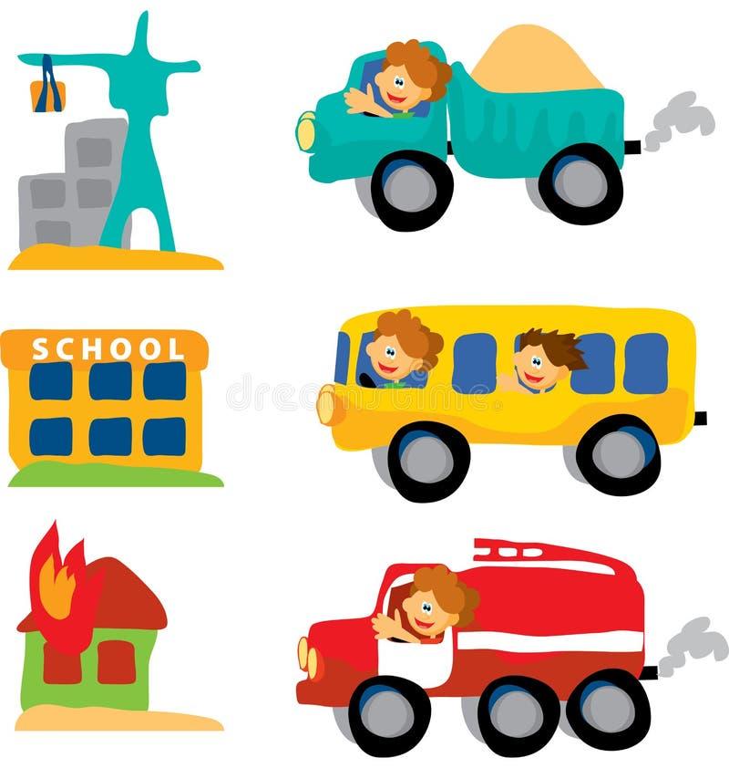 Positionnement assorti de véhicule illustration libre de droits