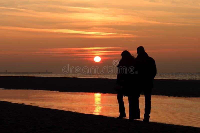 Positionnement automnal romantique de Sun image libre de droits