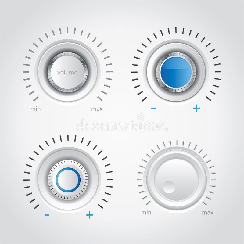 Positionnement blanc de molette de volume illustration libre de droits