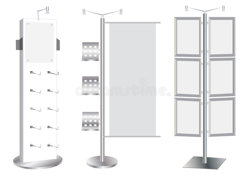 Positionnement blanc de stand de promotion. illustration de vecteur