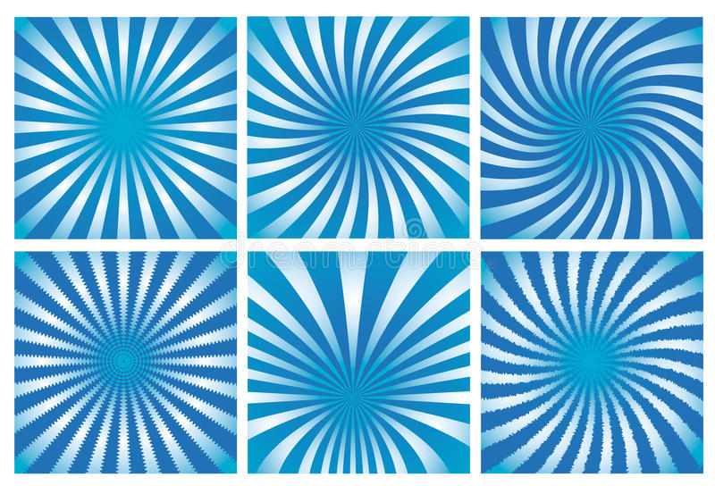 Positionnement bleu de fond de rayon de soleil illustration stock