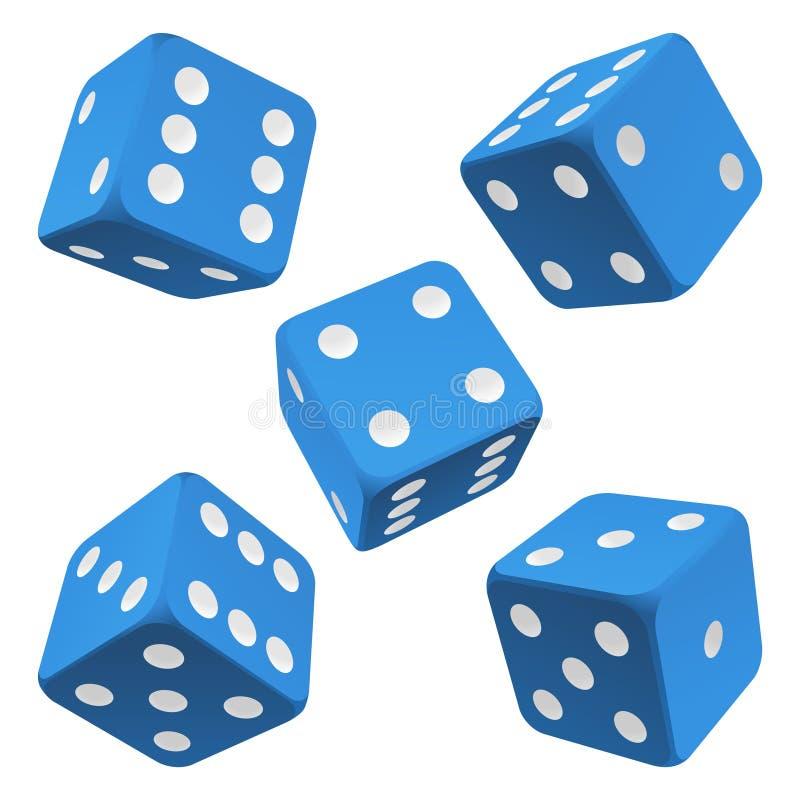 Positionnement bleu de matrices. Graphisme de vecteur illustration de vecteur