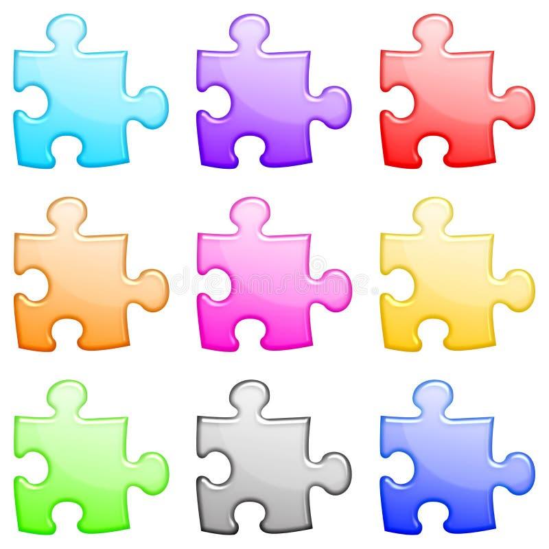 Positionnement brillant de puzzle illustration de vecteur