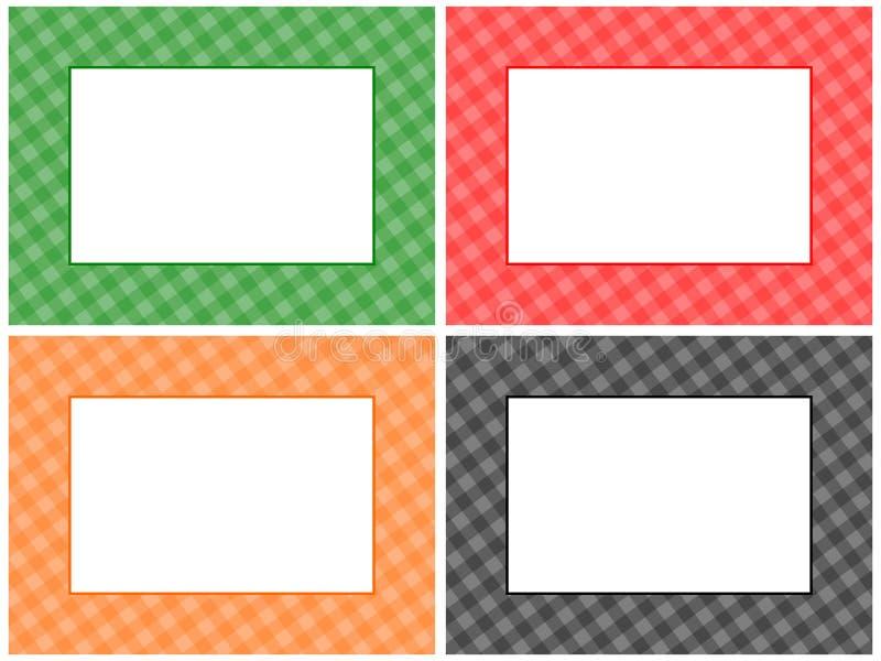 Positionnement Checkered de trame de configuration illustration libre de droits
