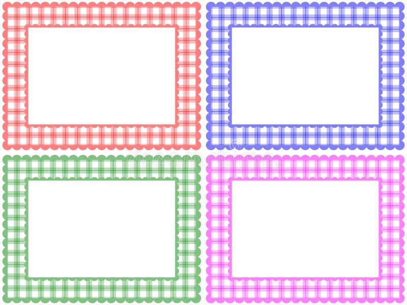 Positionnement Checkered de trame de configuration illustration de vecteur