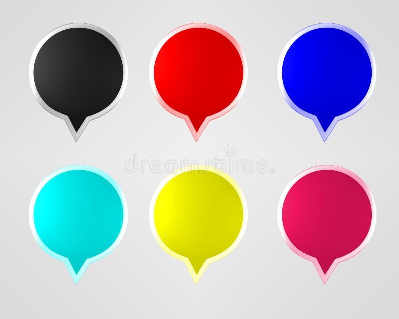 Positionnement coloré de bouton de Web illustration de vecteur