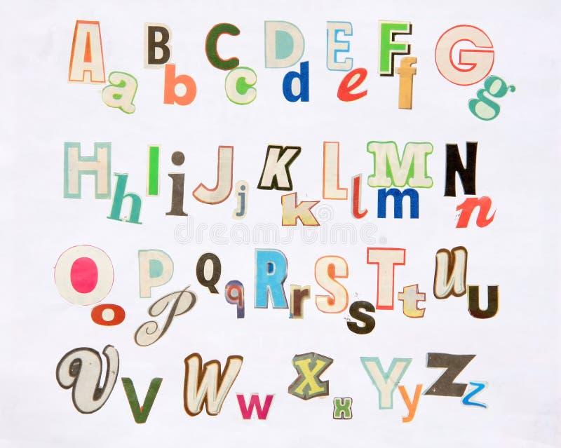 Positionnement coloré de lettre de revue photo stock