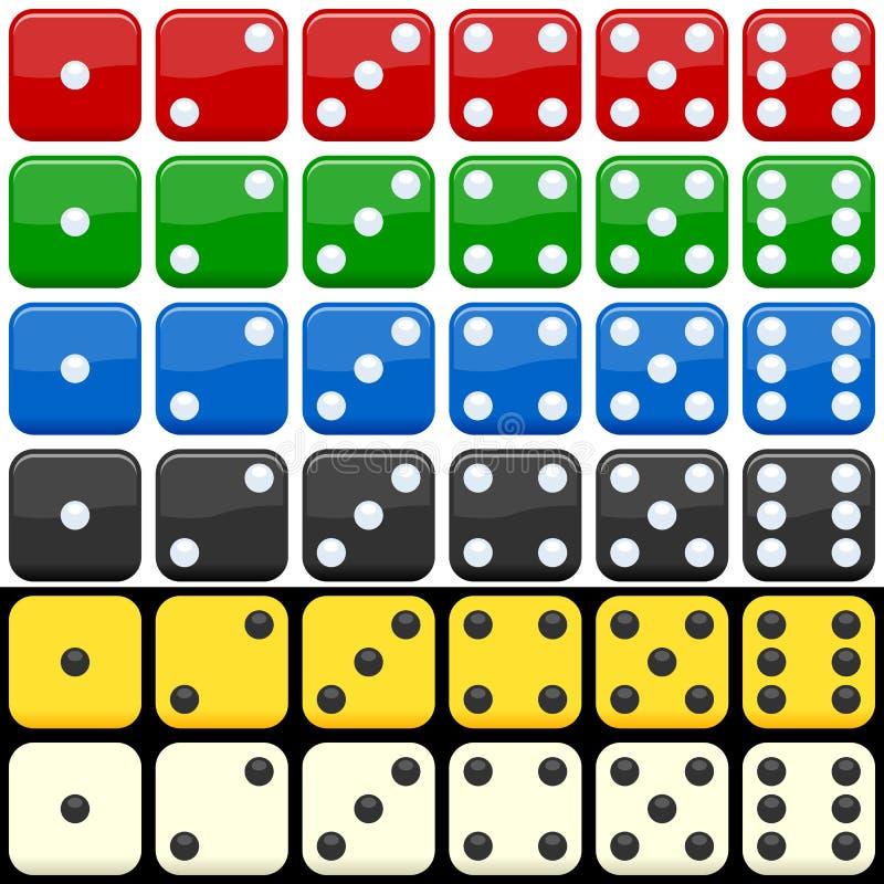 Positionnement coloré de matrices illustration de vecteur