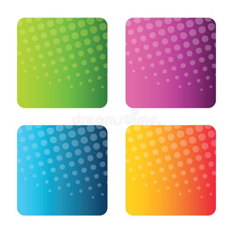 positionnement coloré de milieux abstraits illustration de vecteur