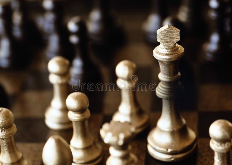 Positionnement d'échecs photographie stock