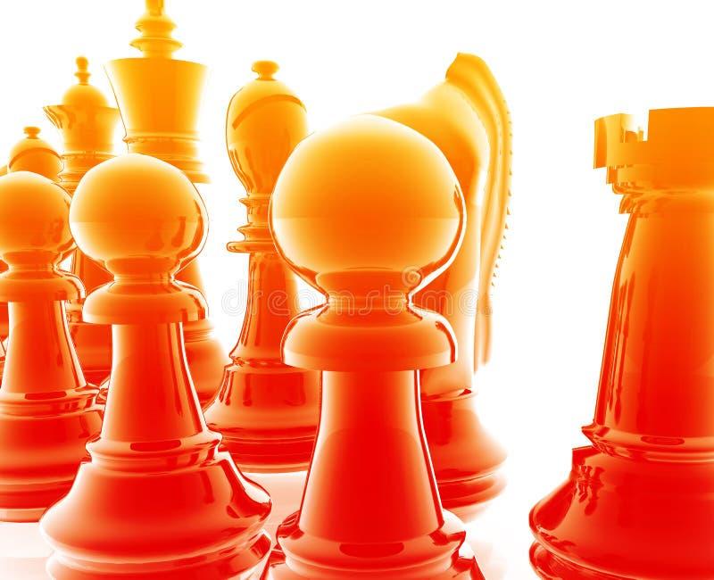 Positionnement d'échecs illustration stock