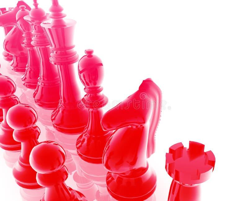 Positionnement d'échecs illustration de vecteur