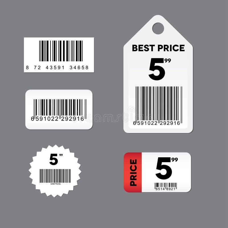 Positionnement d'étiquette de code barres illustration libre de droits