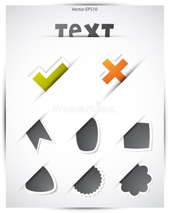 Positionnement d'étiquette de Web illustration de vecteur
