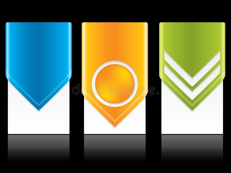 Positionnement d'étiquette neuf frais de flèche illustration libre de droits
