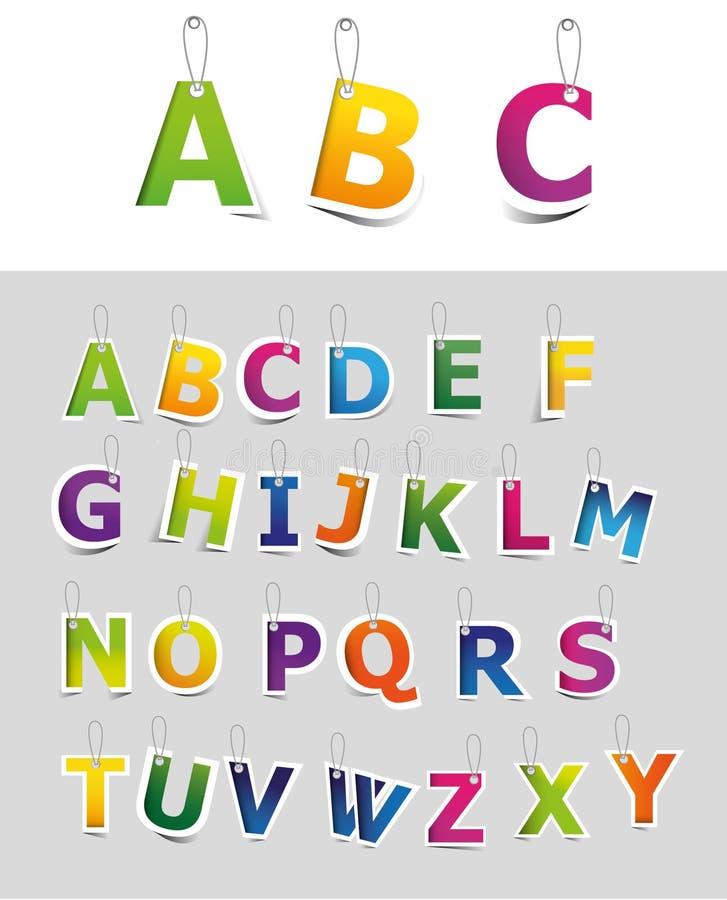 Positionnement d'alphabet illustration de vecteur