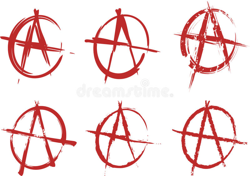 Positionnement d'anarchie illustration stock